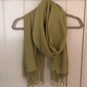 Pure Collection pashmina stole, chartreuse green